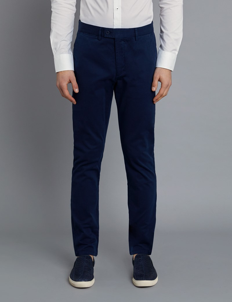 Herren Chino – Slim Fit – Garment Dye – Navy