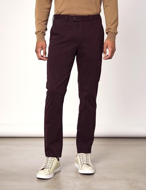 Men's Blackberry Garment Dye Slim Fit Chinos