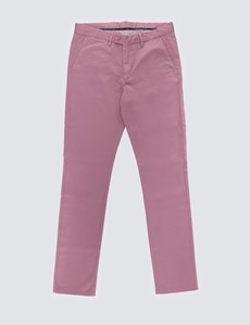 Herren Chino – Slim Fit – Garment Dye – Rosé