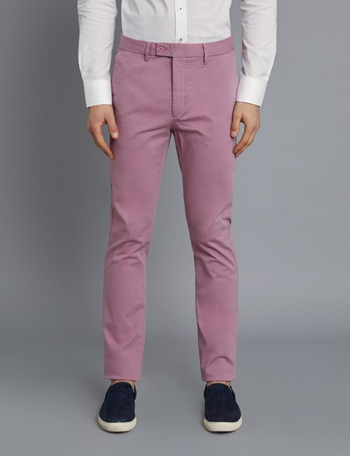 Herren Chino – Slim Fit – Garment Dye – Rosé