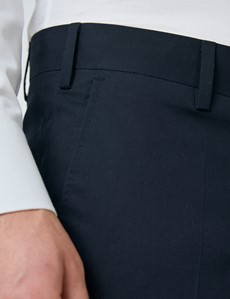 Men's Navy Slim Fit Smart Chinos