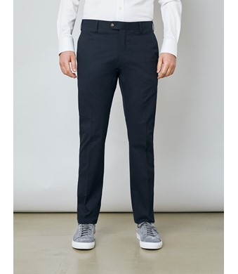 Men's Navy Slim Fit Smart Chinos