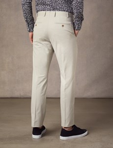 Men's Stone Slim Fit Smart Chinos