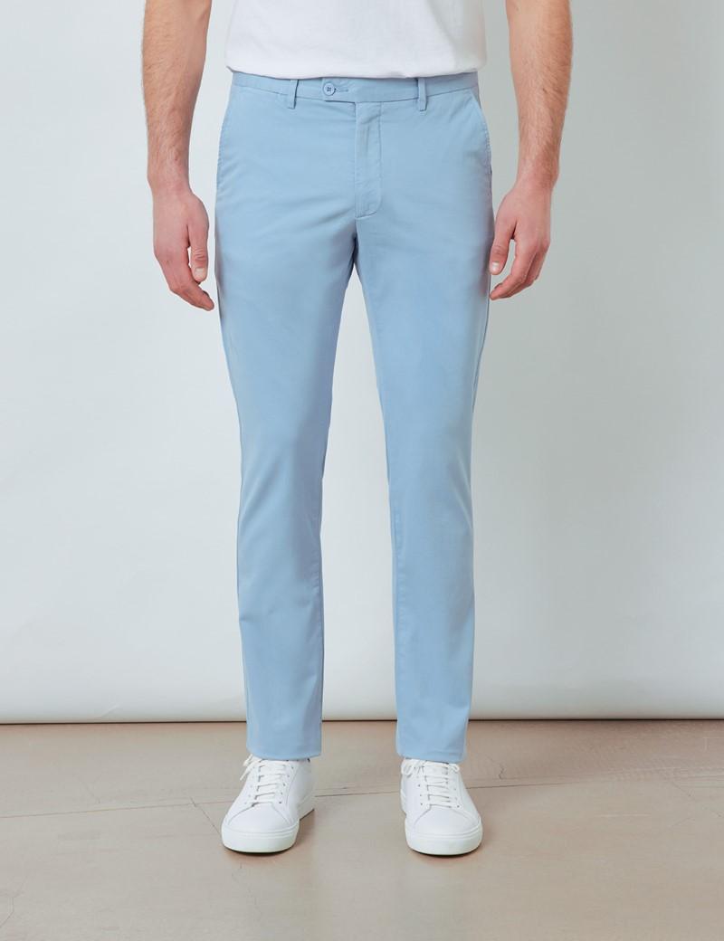 Men's Organic Cotton Stretch Light Blue Chinos