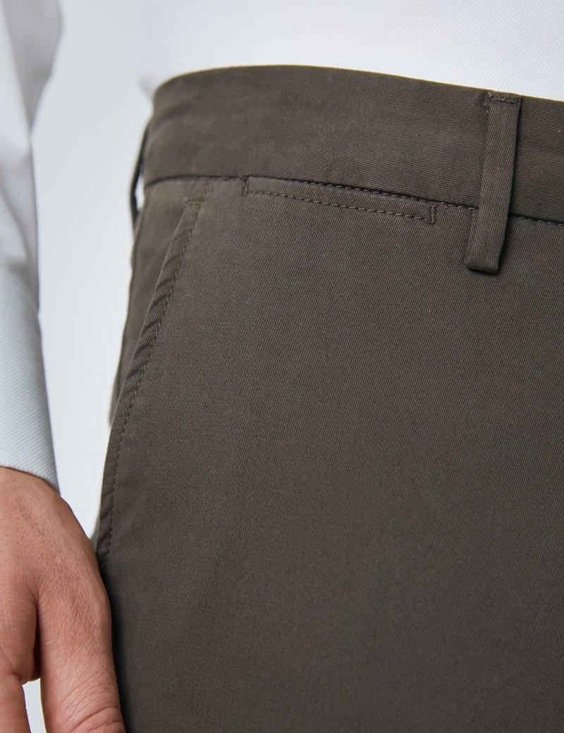 Herren Chino – Slim Fit – Bio-Baumwolle – braun