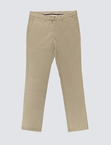 Men's Organic Cotton Stretch Taupe Chinos