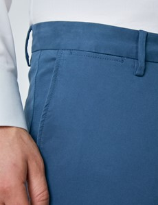 Men's Organic Cotton Stretch Dark Teal Chinos