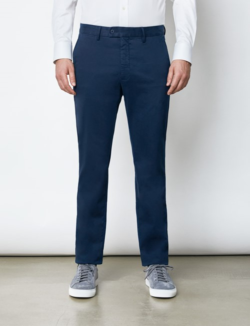 Men's Organic Cotton Stretch Deep Navy Chinos