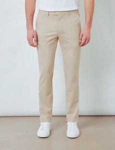 Men's Organic Cotton Stretch Beige Chinos