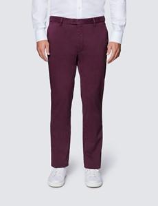 Men's Organic Cotton Stretch Burgundy Chinos