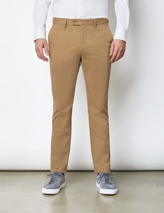 Men's Organic Cotton Stretch Tan Chinos