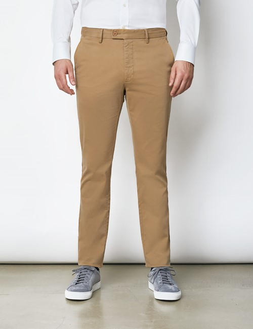 Men's Organic Cotton Stretch Tan Chinos