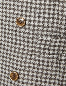 Men's Brown Italian Wool Linen Double Breasted Waistcoat – 1913 Collection