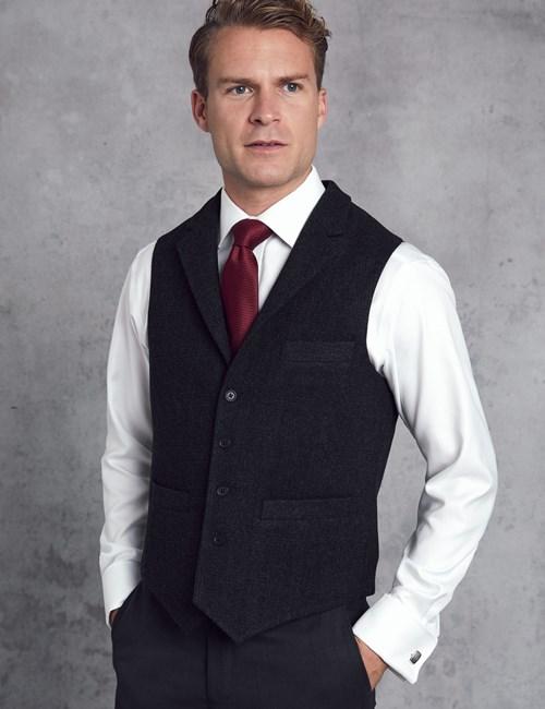 Men's Grey Wool Vest