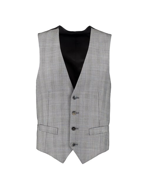 Men's Grey Prince of Wales Check Slim Fit Waistcoat