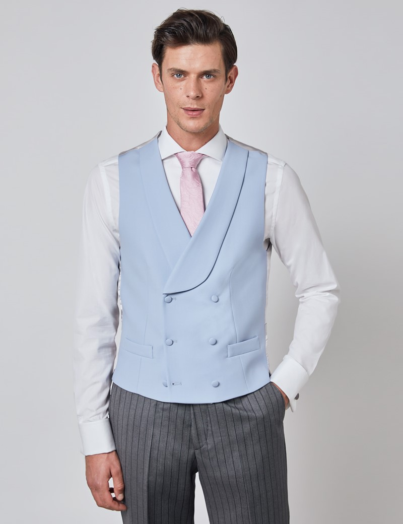 Men's Blue Double Breasted Waistcoat – 1913 Collection