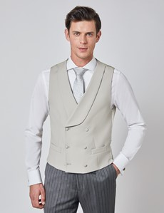 Men's Stone Double Breasted Waistcoat – 1913 Collection