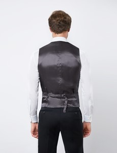 Men's Black Tailored Fit Italian Waistcoat - 1913 Collection