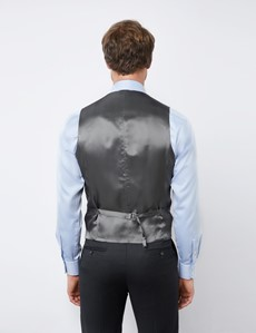 Men's Charcoal Tailored Fit Italian Waistcoat - 1913 Collection