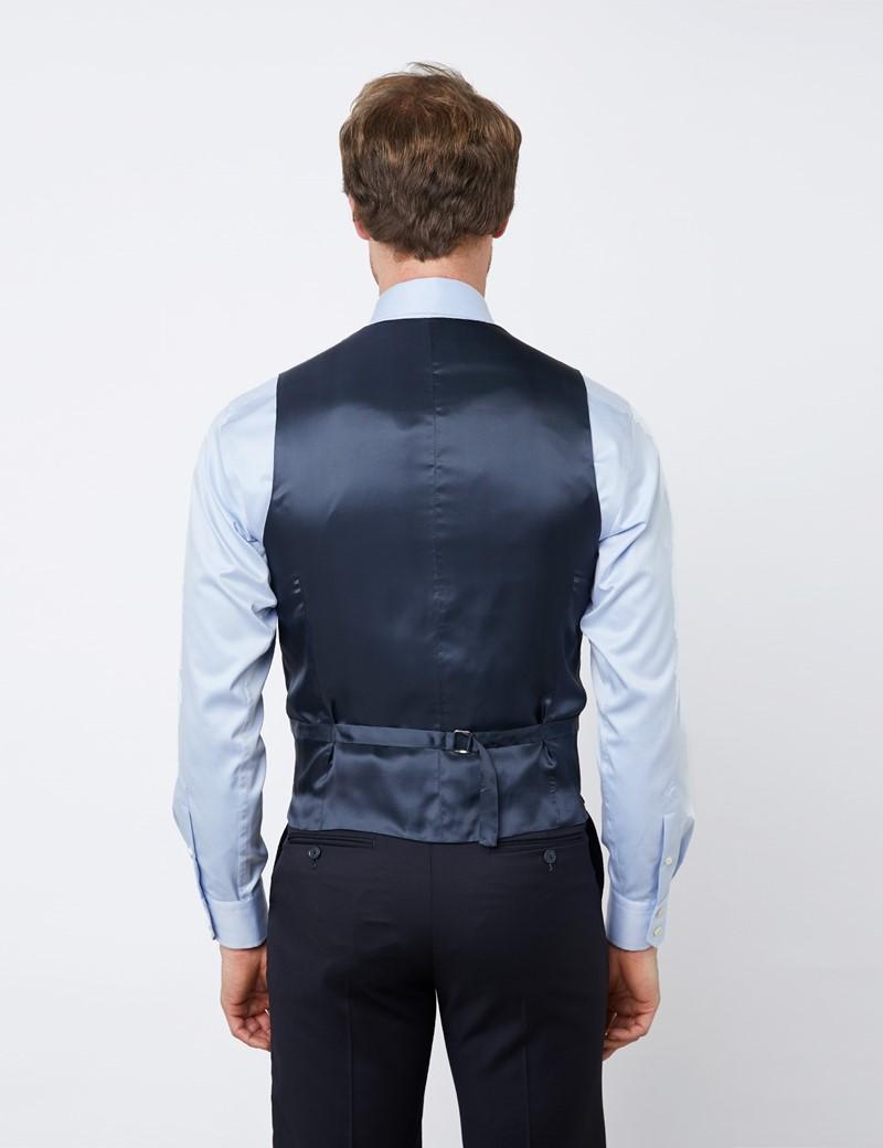 Men's Navy Tailored Fit Italian Waistcoat - 1913 Collection