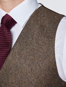Men's Brown Tweed Waistcoat - 1913 Collection