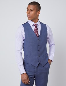 Men's Dark Blue Tailored Fit Italian Waistcoat – 1913 Collection