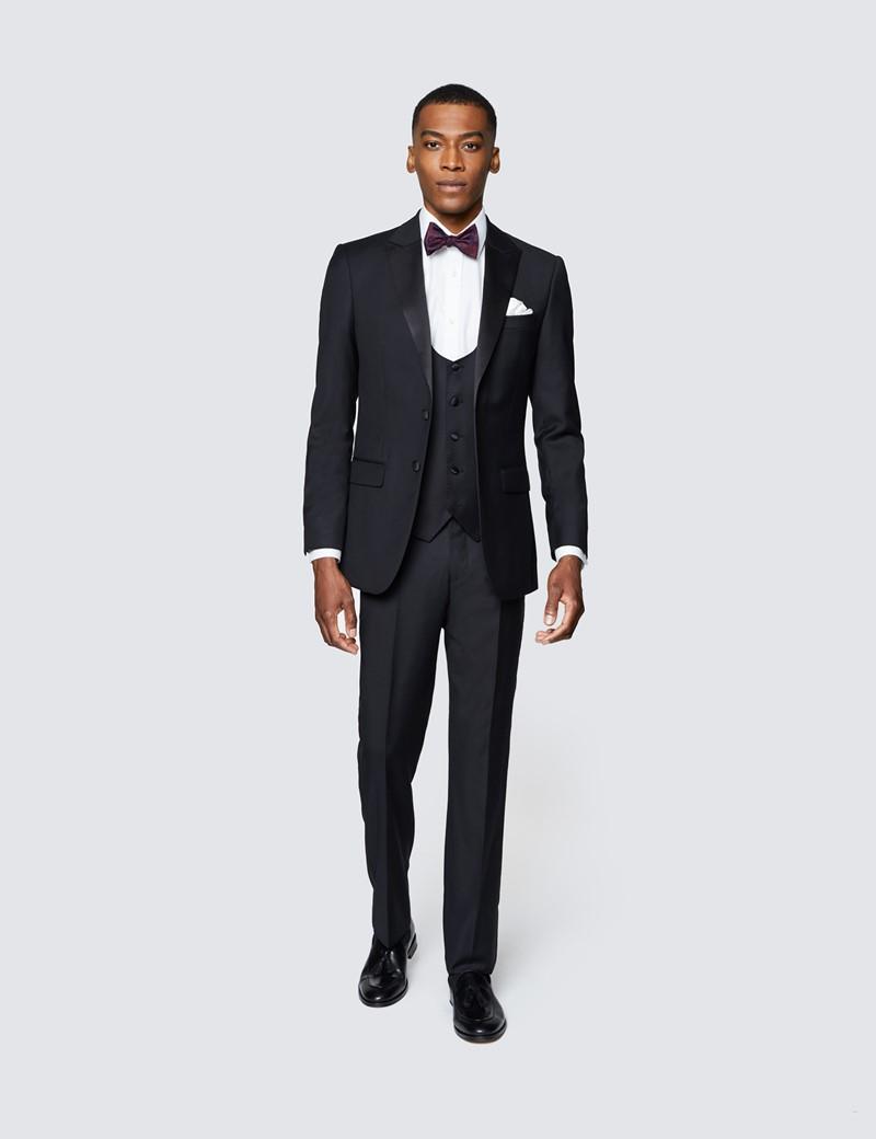 Men's Black Slim Fit Dinner Waistcoat