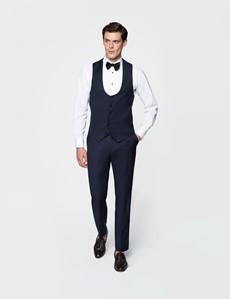 Men's Navy Slim Fit Dinner Waistcoat