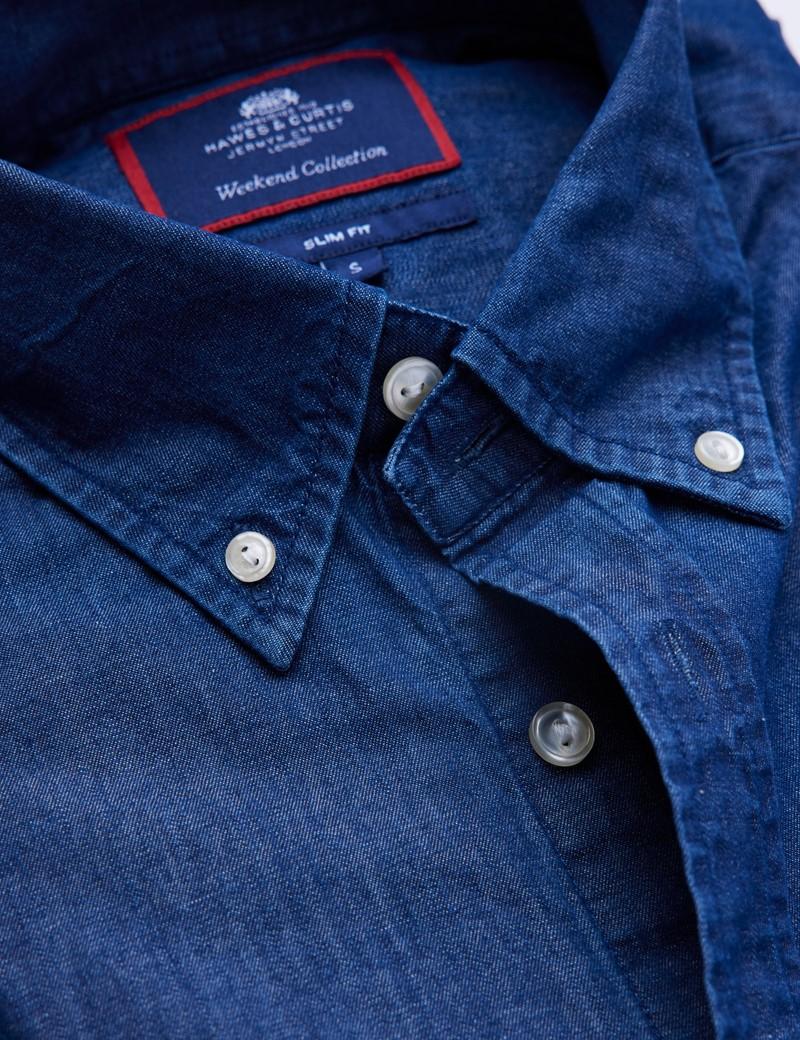 Men's Dark Denim Relaxed Slim Fit Shirt