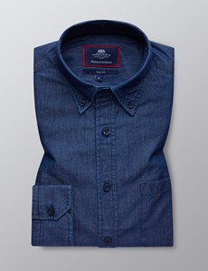 Men's Dark Denim Slim Fit Shirt