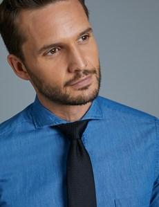 Denimhemd – Slim Fit – Button-Down – Brusttasche – Baumwolle – Blau