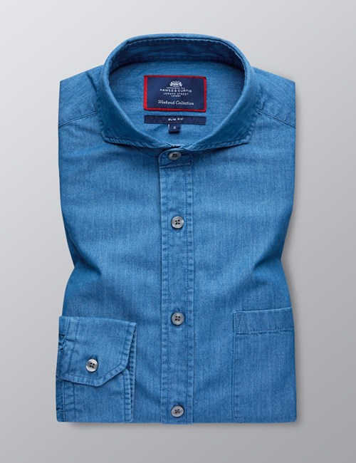 Men's Denim Slim Fit Shirt