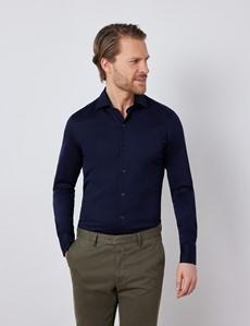 Jerseyhemd – Ägyptische Baumwolle – Navy