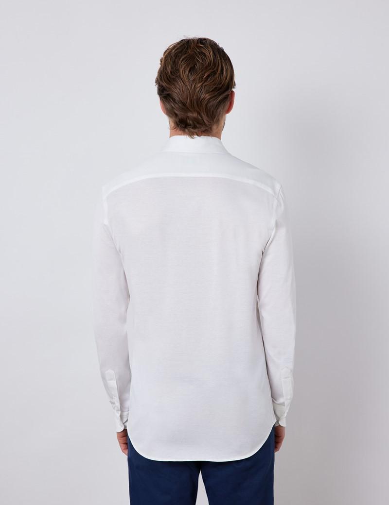 White Mercerised Egyptian Cotton Single Jersey Shirt