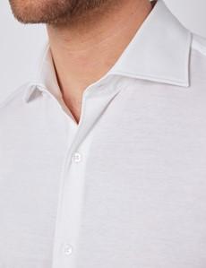 Jerseyhemd – Ägyptische Baumwolle – Weiß