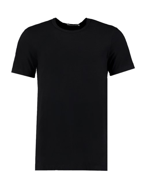 Men's Black Garment Dye Crew Neck T-Shirt - 100% Supima Cotton