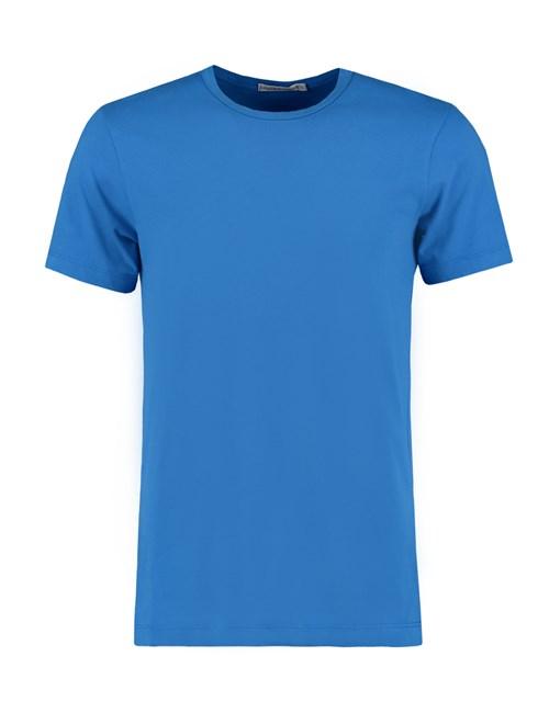 Men's Cobalt Blue Garment Dye Crew Neck T-Shirt - 100% Supima Cotton