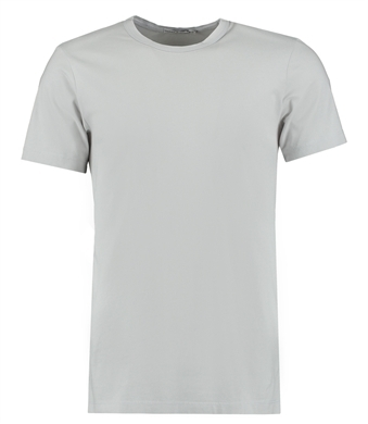 Men's Light Grey Garment Dye Crew Neck T-Shirt - 100% Supima Cotton