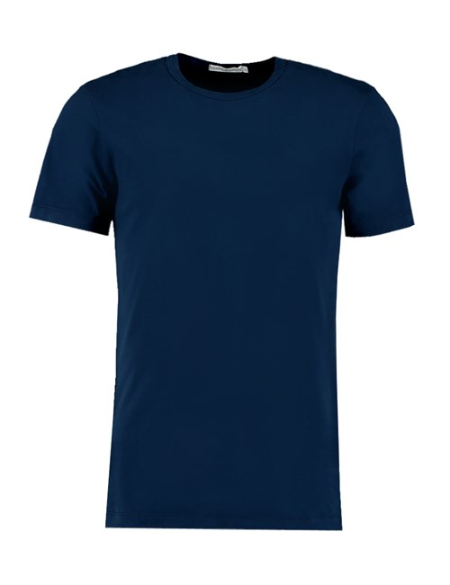 Men's Navy Garment Dye Crew Neck T-Shirt - 100% Supima Cotton