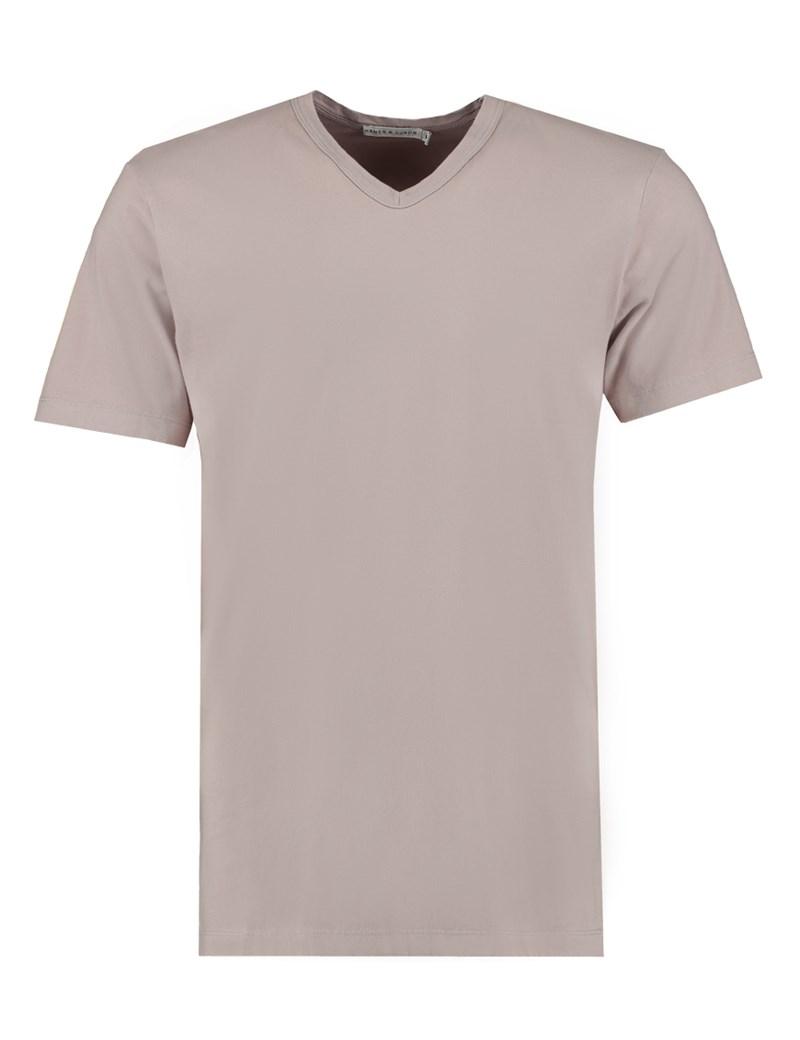 Men's Grey Garment Dye V Neck T-Shirt - 100% Supima Cotton