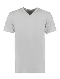 Men's Lt Grey Garment Dye V Neck T-Shirt - 100% Supima Cotton