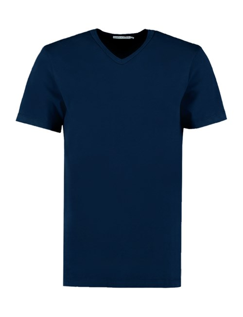 T-shirt – V-Neck – Marineblau