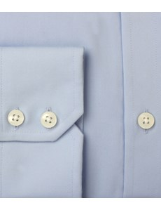 Men's  Blue Classic Fit Business Shirt - Single Cuff - Easy Iron