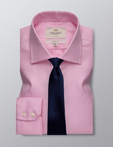 Men's Business Pink Classic Fit Non Iron Shirt - Single Cuff