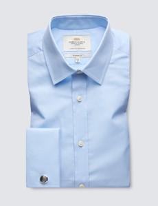 Business Hemd – Classic Fit – Manschetten – Blau