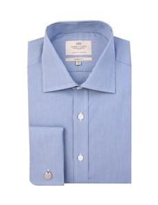 Businesshemd – Classic Fit – Manschetten – Feine Streifen blau